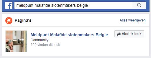 Meldpunt malafide slotenmakers België
